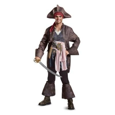 パイレーツ・オブ・カリビアン 最後の海賊 グッズ ジャックスパロウ コスチューム デラックス版 海賊 帽子 コスプレ 仮装 大人 メン