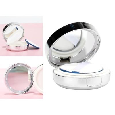エアクッションパフボックスDIYメイクアップ化粧用クリーム用の豪華な空のドレッシングケース、旅行用、スポンジパフとミラー付き