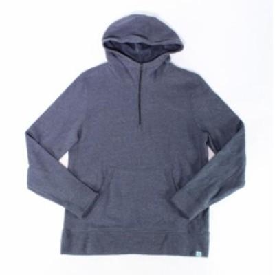 ファッション トップス Designer Brand Mens Sweater Blue Size Medium M Pullover Funnel 1/2 Zip