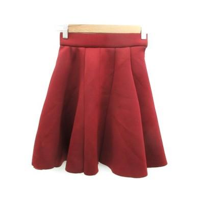 【中古】スウィングル Swingle スカート フレア ミニ丈 XS ボルドー /YM37 レディース 【ベクトル 古着】