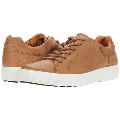 エコー Soft 7 Street Perforated Sneaker メンズ スニーカー 靴 シューズ Camel Nubuck Leather