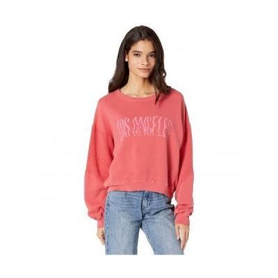CURRENT/ELLIOTT レディース 女性用 ファッション パーカー スウェット The Pieced Sweatshirt - Red Hot