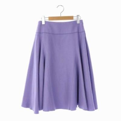 【中古】未使用品 ロペ ROPE ウール フレア スカート 膝丈 36 紫 パープル /AA ■OS レディース