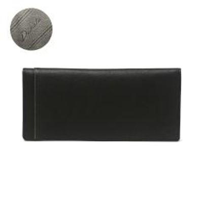 Dakota BLACK LABELダコタブラックレーベル 長財布 Dakota BLACK LABEL 二つ折り財布 財布 リバー3 小銭入れなし ブランド シンプル おしゃれ  薄マチ 薄い かぶせ 本革 メンズ レディース 0627709 ブラック(10)