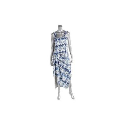 ドレス 女性  海外セレクション Kiind Of 0834 レディース グレー ノースリーブ Full-Length プリントed カジュアル ドレス L