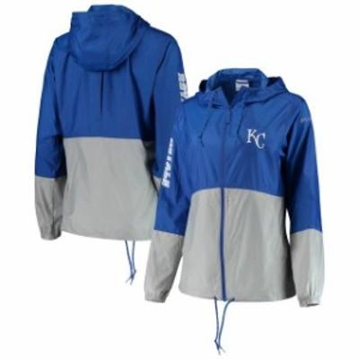 Columbia コロンビア スポーツ用品  Columbia Kansas City Royals Womens Royal/Gray Flash Forward Windbreaker Jacket