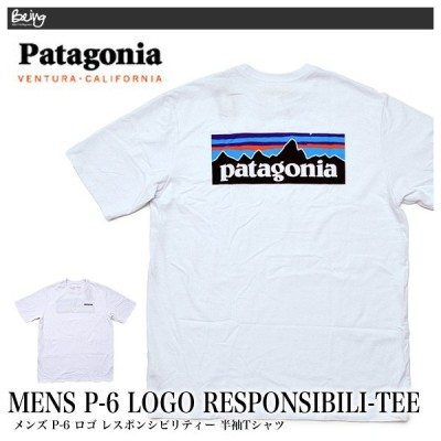 【メール便配送】Patagonia パタゴニア Tシャツ 38504 Patagonia パタゴニア ロゴ Tシャツ メンズ P-6ロゴ・レスポンシビリティー Tシャツ ホワイト 白