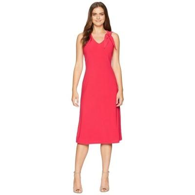 【残り1点!】【サイズ:8】ロンドンタイムス London Times レディース ワンピース・ドレス ワンピース Tie Shoulder Fit & Flare Dress Pink
