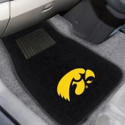 Fan Mats ファン マット スポーツ用品  Iowa Hawkeyes 2-Piece Embroidered Car Mat Set