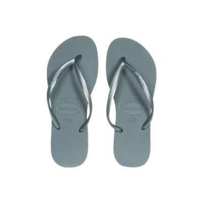 ハワイアナス Havaianas レディース ビーチサンダル シューズ・靴 Slim Flip Flops Silver/Blue