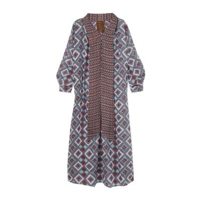 YVONNE S 7分丈ワンピース・ドレス グレー S リネン 100% 7分丈ワンピース・ドレス