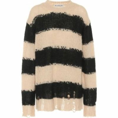 アクネ ストゥディオズ Acne Studios レディース ニット・セーター トップス Oversized striped sweater Black Warm Beige
