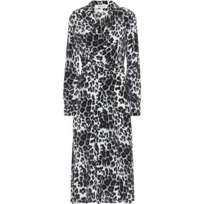 ダイアン フォン ファステンバーグ Diane von Furstenberg レディース ワンピース ミドル丈 donika printed silk midi dress heritage snow cheetah grey