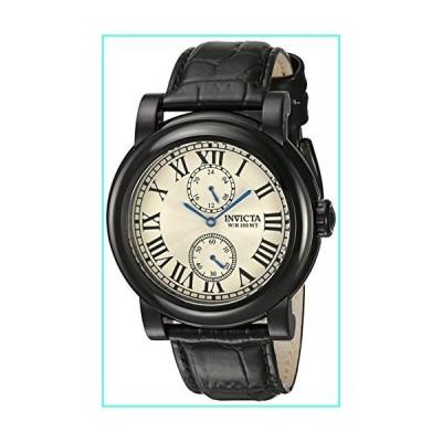 Invicta Men's I-Force Black Leather Band Steel Case Quartz Silver-Tone Dial Analog Watch 22257並行輸入品