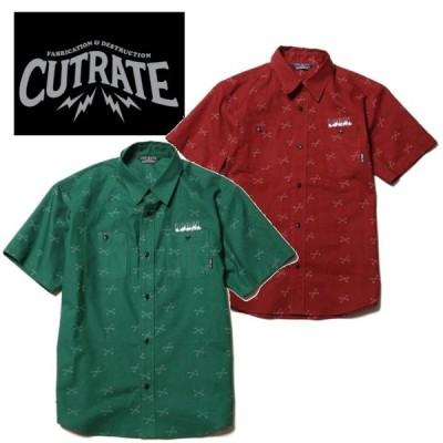 セール50%オフ CUT RATE カットレイト CROSS BONE ALLOVER PATTERN SHIRT 半袖シャツ