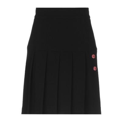 ドルチェ & ガッバーナ DOLCE & GABBANA ひざ丈スカート ブラック 42 100% ウール ひざ丈スカート