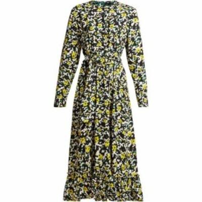 プロエンザ スクーラー Proenza Schouler レディース ワンピース ミドル丈 ワンピース・ドレス Floral-print crepe midi dress Black