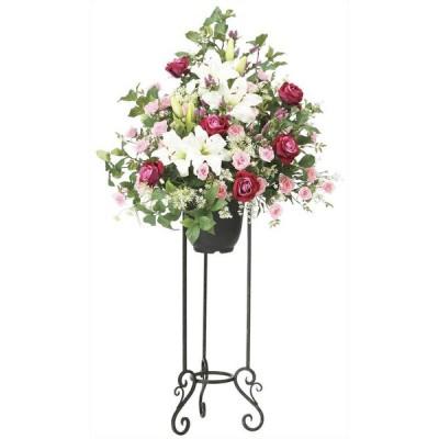 造花 アレンジメント アートフラワー  ギフト 光触媒 フラワースタンド W70×D60×H130cm
