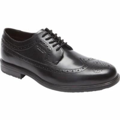 ロックポート 革靴・ビジネスシューズ Essential Details II Wing Tip Oxford Black Leather