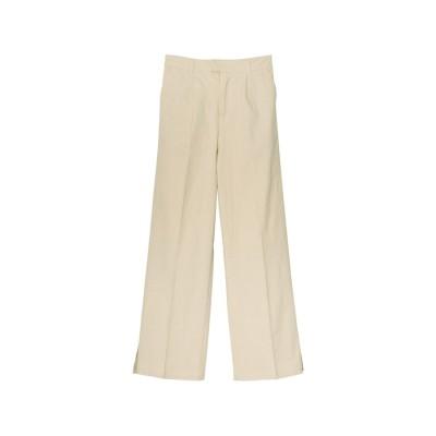 リエディ Re:EDIT [低身長サイズ有]ストレッチコットン裾ベンツセンタープレスパンツ (アイボリー)