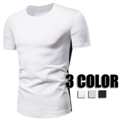 Tシャツ メンズ 無地 Tシャツ トップス 大きいサイズ 夏物 春物 大きいサイズ 無地Tシャツ メンズファッション 3色