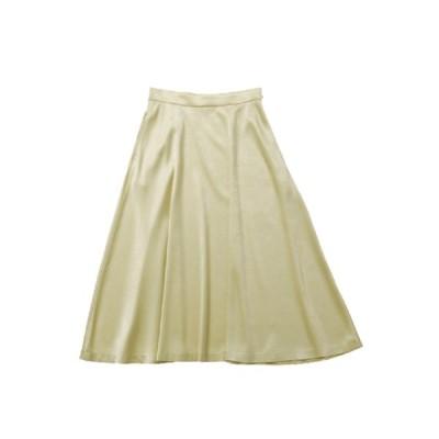 正規取扱店 beautiful people 18-19A/W チンチラサテンサーキュラーヘムスカート yellow (ビューティフルピープル)