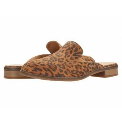 Clarks クラークス レディース 女性用 シューズ 靴 ローファー ボートシューズ Trish Plant Dark Tan Leopard Print Suede【送料無料】