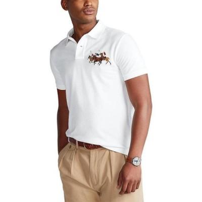 ラルフローレン メンズ ポロシャツ トップス Classic-Fit Match Play Mesh Short-Sleeve Polo Shirt White