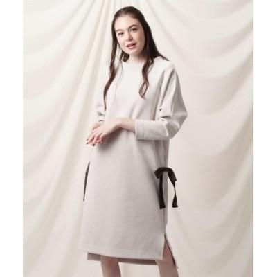 Couture Brooch(クチュールブローチ) ◆【WEB限定/受注生産】スフレスウエード調リボンワンピース
