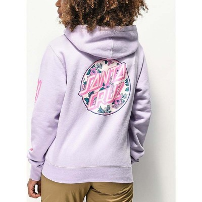 サンタクルーズ SANTA CRUZ SKATE レディース パーカー トップス Santa Cruz Vacation Dot Lavender Hoodie Purple