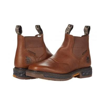 Georgia Boot ジョージアブーツ メンズ 男性用 シューズ 靴 ブーツ ワークブーツ Carbo Tec Chelsea SQ Toe - Brown