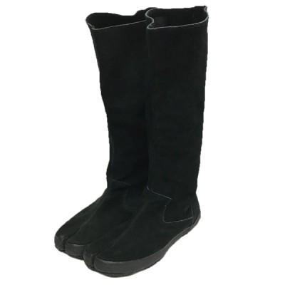 MARTIN MARGIELA 6 スウェード足袋ロングブーツ ブラック サイズ:38 (自由が丘店) 201227