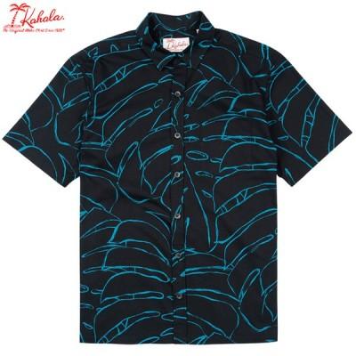 Kahala 【カハラ アロハシャツ】 本物のメイドインハワイアロハブランド deliciosa-black 老舗のデザイン プレゼントに最適 ゴルフウェアにも!
