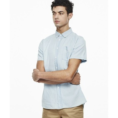 シャツ ブラウス Esquina Denim Short Sleeve Shirt