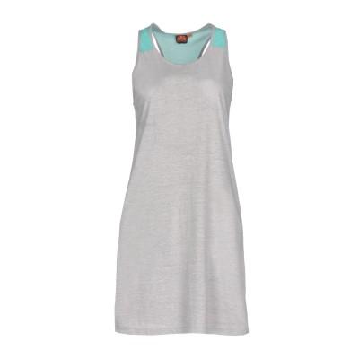 サンデッキ SUNDEK ミニワンピース&ドレス グレー XS コットン 100% ミニワンピース&ドレス