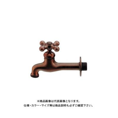 カクダイ 胴長横水栓/ブロンズ 702-024-13