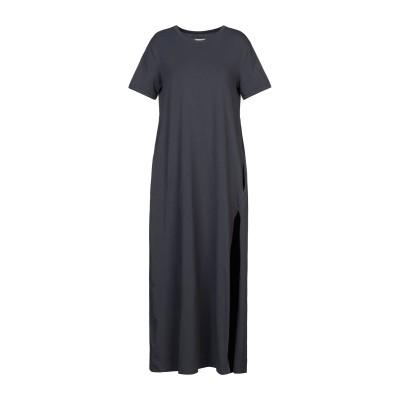 メルシー ..,MERCI ロングワンピース&ドレス スチールグレー XS コットン 94% / ポリウレタン 6% ロングワンピース&ドレス