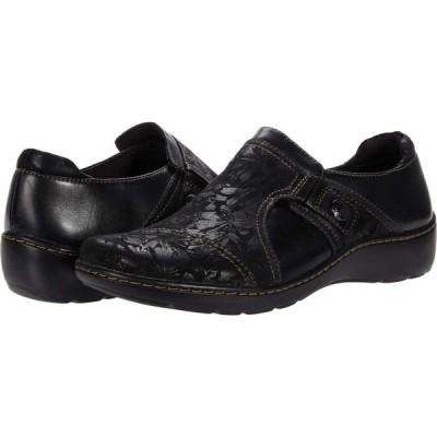 クラークス Clarks レディース シューズ・靴 Cora Poppy Black Textile/Leather Combination