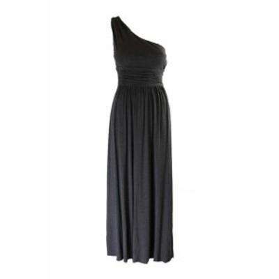 ファッション ドレス Lavanderia da Shelli Segal Antracite Monospalla Ruche Abito lungo 2