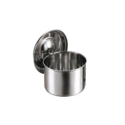 クローバー 18-8 浅型キッチンポット 12cm(0.9L) 手無 大屋金属 CD:015111