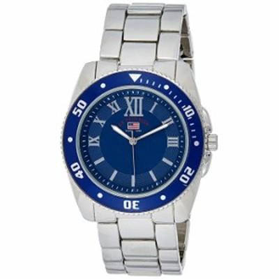腕時計  米国ポロ協会。Men 's Quartz Metal and Alloy Casual Watch , Color : silver-toned (モデル: us8611?)