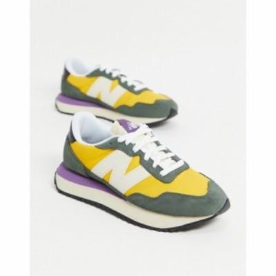 ニューバランス New Balance レディース スニーカー シューズ・靴 237 Trainers In Green And Yellow グリーン/イエロー