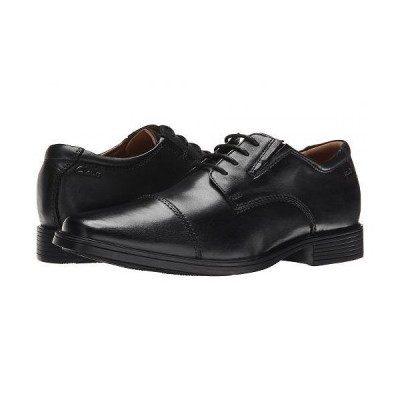 Clarks クラークス メンズ 男性用 シューズ 靴 オックスフォード 紳士靴 通勤靴 Tilden Cap - Black