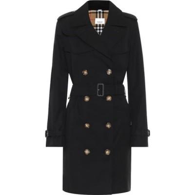 バーバリー Burberry レディース トレンチコート アウター cotton-gabardine coat Black