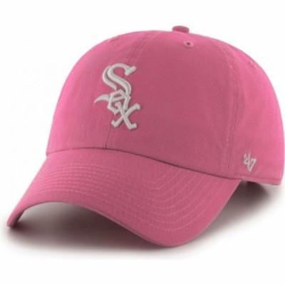 フォーティセブン 47 レディース キャップ 帽子 Chicago White Sox Clean Up Pink Adjustable Hat