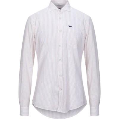 ハーモント アンド ブレイン HARMONT&BLAINE メンズ シャツ トップス striped shirt White
