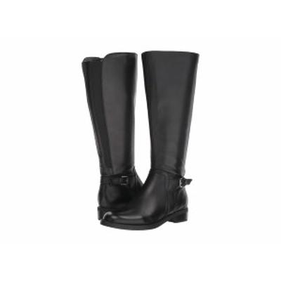 ブロンド レディース ブーツ&レインブーツ シューズ Evie Wide Shaft Boot Waterproof Black Leather