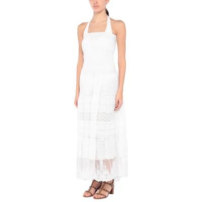 ICONIQUE ビーチドレス ホワイト S コットン 100% ビーチドレス