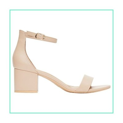 Rohb by Joyce Azria Calypso Mid Heel Ankle Strap Sandal (Nude Pu) Size 7並行輸入品