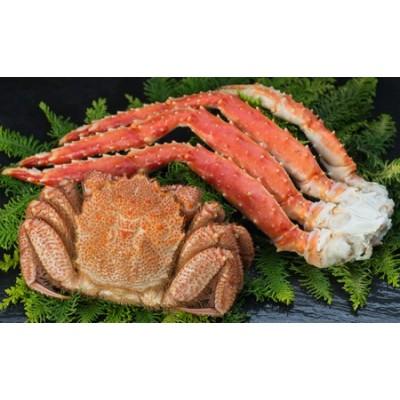 [Ta505-D089]【蟹セット】 ボイル毛蟹350g&タラバ脚1.0kg